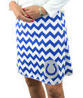 Chevron Indianapolis Colts Blue Gameday A Line Striped Yoga Women Skirt XS ~ XL