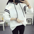 Winter Thicken Korean Girl Loose Cotton Sweater Hooded Sport Jacket Coat A+++