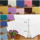 Percale Extra Deep Pleated Fitted Valance Sheets 180 Threat count Hotel Quality