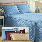 Luxurious Microfiber Bedspread Bed Cover Coverlet Diamond Loop Quilting NEW image