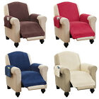 Внешний вид - Faux Chenille Recliner Chair Furniture Cover & Pockets 4 Colors READ DESCRIPTION