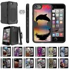 "For Apple iPhone 7 Case (4.7"") Holster Clip Dual Rugged Armor Kickstand Cover"