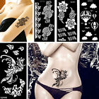 Flower Lace Beauty Women Henna Body Art Painting Hollow Temporary Tattoo Stencil