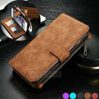 Magnetic Multifunction PU Leather Zipper Case Wallet Card Cover Fr iPhone 6 6S 7