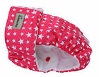 FEMALE DOG SEASON PANTS / NAPPY / HEAT / URINE INCONTINENCE DIAPER - STARRY PINK