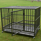 "37"" 48"" Dog Crate Kennel -Heavy Duty Pet Cage Playpen w / Metal Tray Exercise Pan"