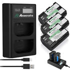 LP-E6 LPE6 Battery  +Dual USB Charger For Canon EOS 5D Mark II III 7D 70D 6D 60D