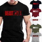 MENS BEAST MODE T-SHIRT GYM BODYBUILDING MOTIVATION TRAINING WORKOUT FIGHTING