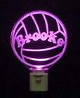 Personalized LED Acrylic Volley Ball Night Light, Sports Lamp