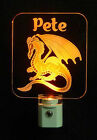 "Dragon Personalized LED Night Light - Lamp, Animals 3/8"" Acrylc"