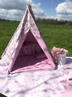 WATERPROOF PVC Fabric TEEPEE. KIDS CHILDREN'S, CUSHIONS OUTDOOR GARDEN PLAY TENT
