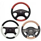 Custom Fit 1 or 2 Color Leather Steering Wheel Cover Wheelskins 15 1/2 x 3 7/8