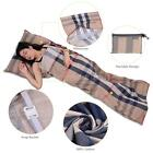 Outdoor Hiking 100% Cotton Healthy Sleeping Bag Liner with Pillowcase New S1V5