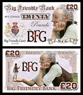 BFG - Big Friendly Giant Novelty Banknotes / Party Bag Fillers