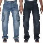 Mens Eto Jeans Regular Fit Combat Cargo Style Denim Stylish Comfort Utility Pant