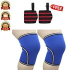 Compression Knee Sleeve Support brace 7mm Neoprene Crossfit Powerlifting Fitness