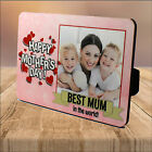 Personalised Mothers Day Best MUM WOOD PHOTO PANEL KEEPSAKE PRINT GIFT IDEA