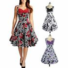 Womens Rockabilly 50s 60s Vintage Cocktail Party Evening Retro Swing Dance Dress
