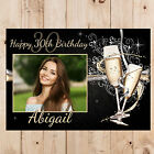 Personalised 18th 21st 30th 40th 50th Happy Birthday PHOTO Poster Banner N88