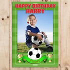 Personalised Boys Football Happy Birthday PHOTO Poster Banner N90 ANY AGE