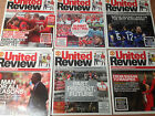 Manchester United 2011-2012 Season Match Day Programmes - Your Choice