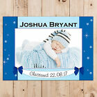 Personalised Boys Christening Baptism Day PHOTO Poster Banner Keepsake Gift N94