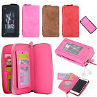 Vintage PU Leather Zipper Wallet Mirror Case For Samsung Galaxy S7 S7 Edge 2016