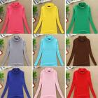 Women Autumn Long Sleeve Slim Bottoming T-Shirt Turtleneck Stretch Base Blouse