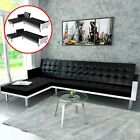 Sectional Sofa Bed Sleeper Covertible Modern Couch Chaise Lounge White Black