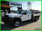F-450 4WD EXTENDED CAB 9' FLAT BED WORK TRUCK 6.8 V10 WE FINANCE!