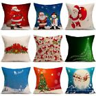 Christmas Cushion Cover Xmas Ambience Decorative Square Pillow Case Car Decor