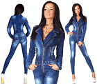 Sexy New Women's Denim Jeans Wash Playsuit Jumpsuit Overall Skinny Slim H 707