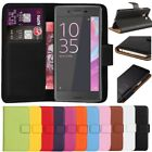 Leather Case Flip Book Wallet Cover For Sony Xperia X Compact +Free Screen Guard