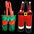 Novelty Christmas Double Bottle Bag (DP) - Elf or Santa Trouser Design