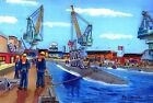 Norfolk Naval Shipyard Art Print USS Albany SSN-753 Submarine Navy Ship Veteran