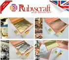 Large Imitation Mix Pure Gold Silver Copper Leaf Sheets 140mmx140mm - choose kit