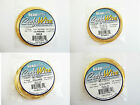 BEADSMITH SQUARE & HALF ROUND WIRE-Non Tarnish Gold Plated 21&18 Gauge 4 yards