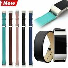 Genuine Leather Long Double Tour Bracelet Strap Wristband For Fitbit Charge 2