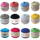 HOT Viscose Rayon Art Cotton Thread Yarn Embroidery Crochet Lace Trim 50g x1