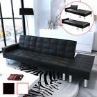 Convertible Sofa Bed Couch Sleeper w/ Ottoman Living Room Furniture Black/White