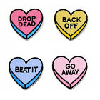 GO AWAY BEAT IT DROP DEAD BACK OFF Letter Iron On Patch for Lovers Best Friends