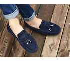 3 Color US Size 5-11 Fashion Leather Mens Driving Moccasin Slip On Loafers Shoes