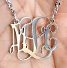 Monogram Necklace Custom Stainless Steel - Custom Metal Jewelry