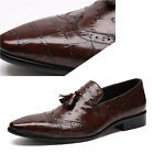 NEW Men's Real Leather Shoes Formal Business Casual Slip ons C30 Size 5~10 38~43