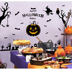 60*90 Festival Decorative Halloween Pumpkin Skull Wall Sticker Home Decor New