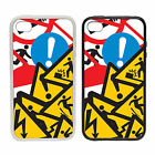 Health & Safety - Rubber and Plastic Phone Cover Case - Stickerbomb Style