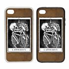 Lamourex  -Rubber and Plastic Phone Cover Case-Drawing Traditional Art Skeleton