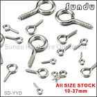 Внешний вид - 10-37mm Wholesale Eye Pins Screws  Hooks Eyelets Threaded Hardware 10-500 pcs