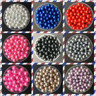 NEW DIY 4mm 6mm 8mm 10mm Acrylic No Hole Round Pearl Loose Beads Jewelry Making