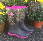 The Original Muck Boot Company Woman's Wood PK Hunting Boot pink camo